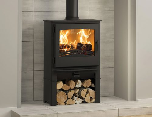 Desire 5 Widescreen Multifuel Stove log store
