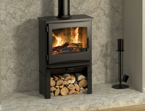 Ignite 5 Widescreen Multifuel Stove log store