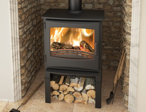 Ignite 7 Multifuel Stove log store