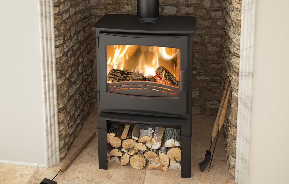 Ignite 7 Multifuel Stove Log Store Broseley Fires